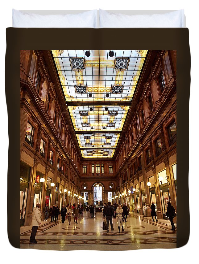 Lehto Duvet Cover featuring the photograph Temple Of Commerse by Jouko Lehto