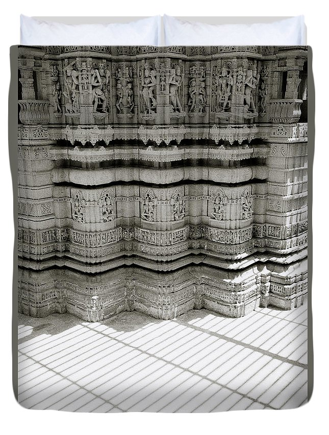 India Duvet Cover featuring the photograph Temple Serenity by Shaun Higson