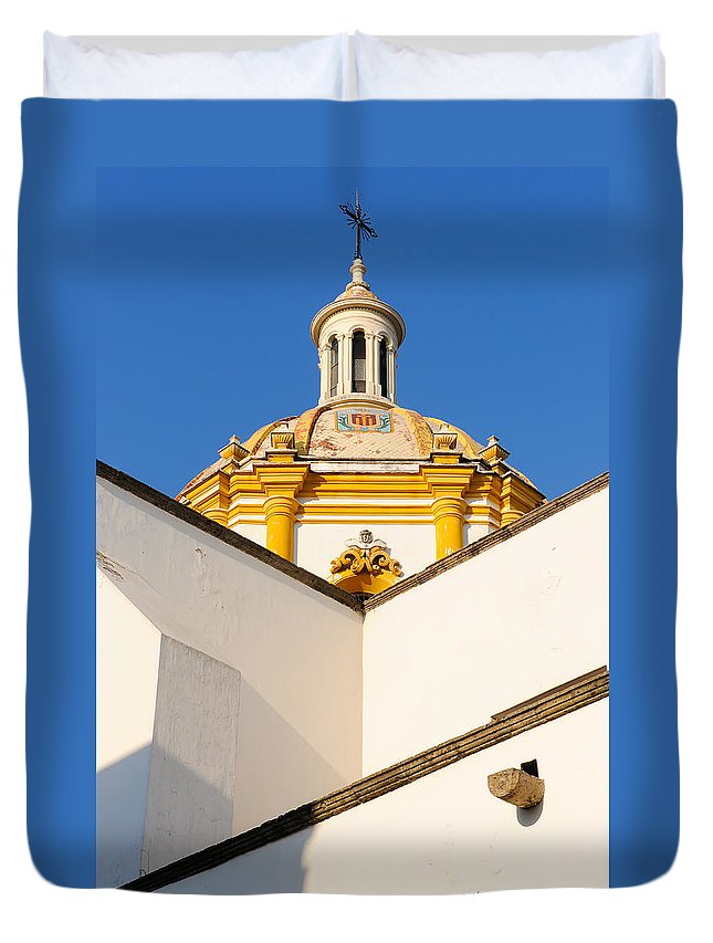 Churches Duvet Cover featuring the photograph Templo De La Merced Guadalajara Mexico by David Perry Lawrence