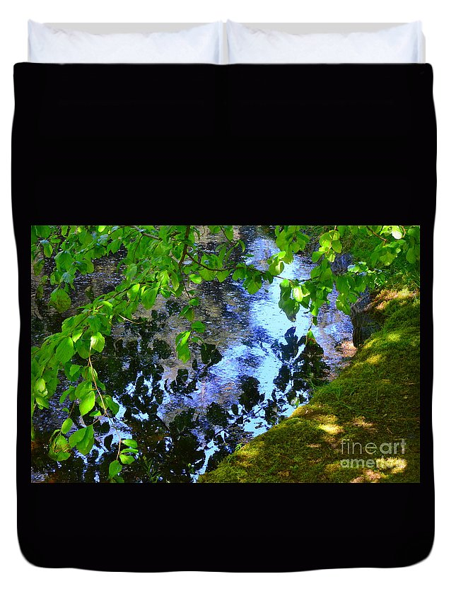 Abstract Duvet Cover featuring the photograph Tender Rivals by Lauren Leigh Hunter Fine Art Photography