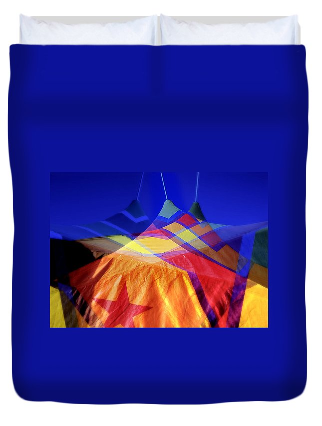 Tent Duvet Cover featuring the photograph Tent Of Dreams by Wayne Sherriff