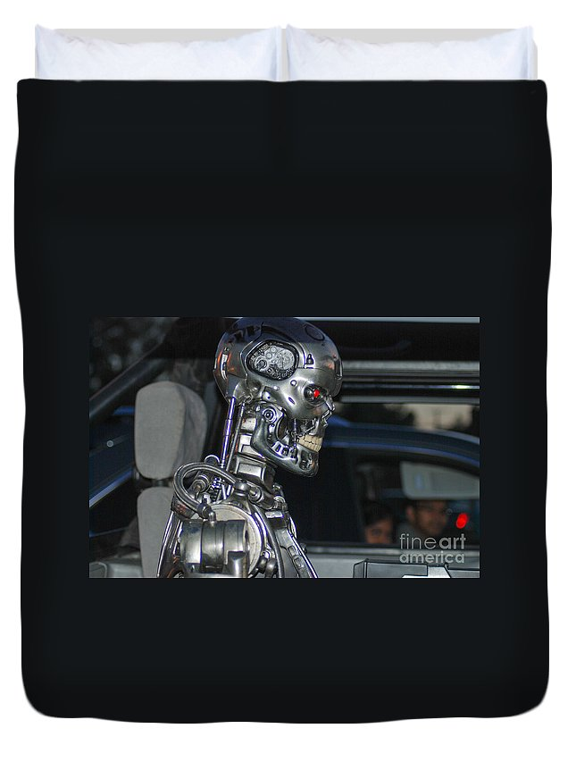 Duvet Cover featuring the photograph Terminator by Optical Playground By MP Ray
