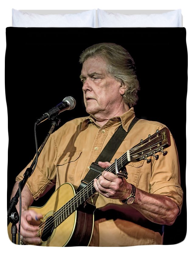 Art Duvet Cover featuring the photograph Texas Singer Songwriter Guy Clark by Randall Nyhof