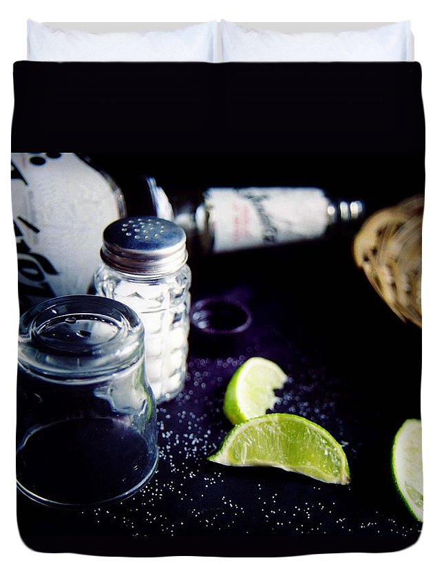Tequila Duvet Cover featuring the photograph Texas Tequila Slammer 02 by Pamela Critchlow