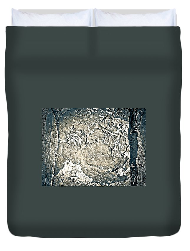 Abstract Duvet Cover featuring the photograph Texture No.2 Effect 3 by Fei A