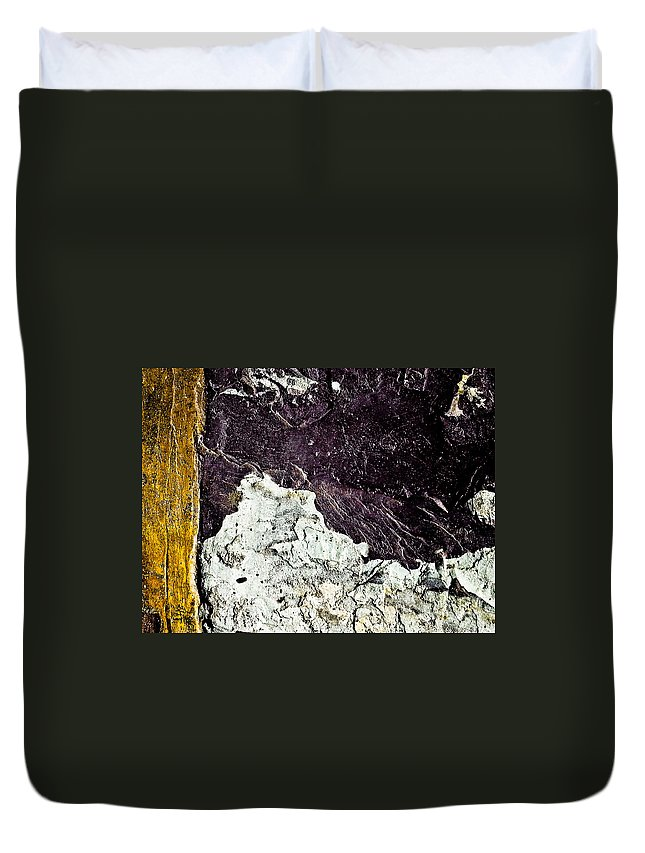 Abstract Duvet Cover featuring the photograph Texture No.2 Raw by Fei A