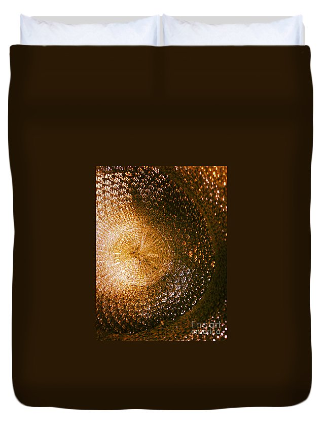 Abstract Duvet Cover featuring the photograph Texture No.5 Color Version by Fei A