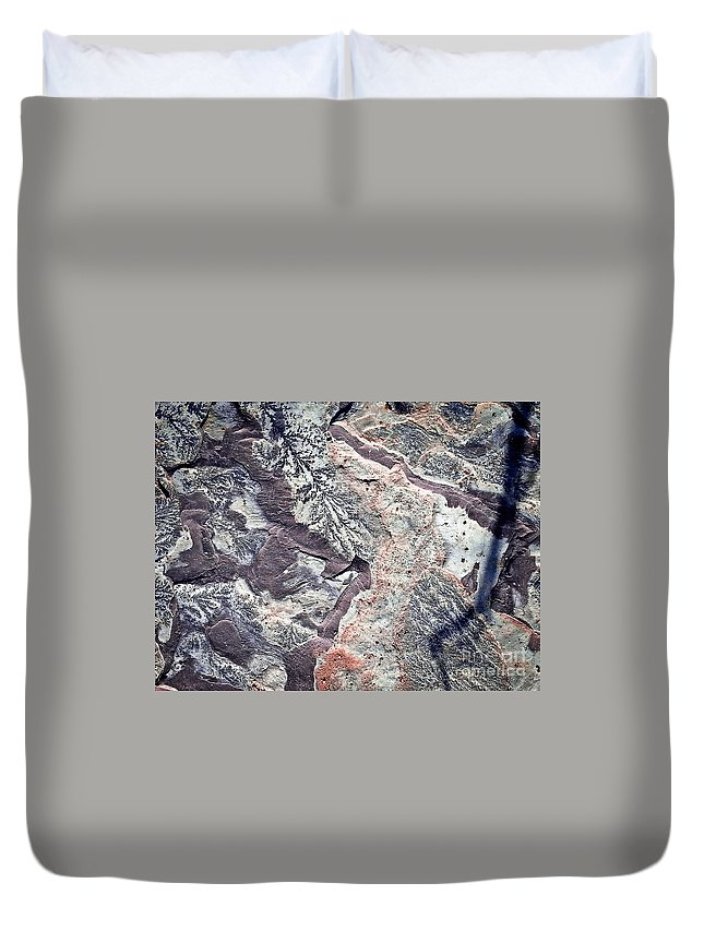 Texture Duvet Cover featuring the photograph Texture No.6 Effect 6 by Fei A