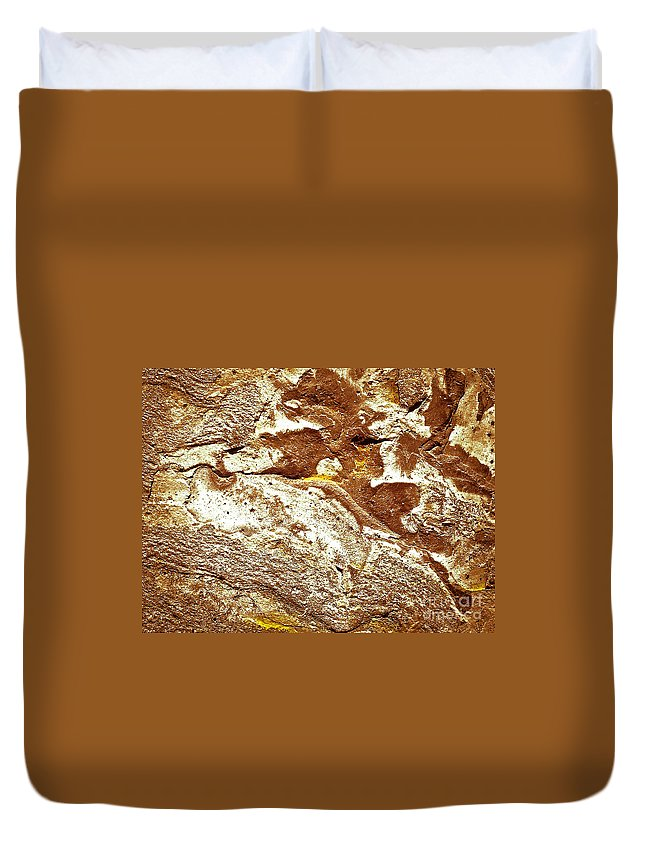 Abstract Duvet Cover featuring the photograph Texture No.7 Effect 10 by Fei A
