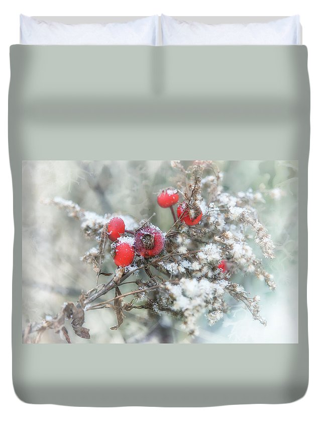 Snow Duvet Cover featuring the photograph That First Snowfall by Susan Capuano