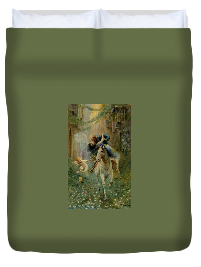 The Abduction In Cairo Duvet Cover featuring the digital art The Abduction In Cairo by Fabbio Fabbi