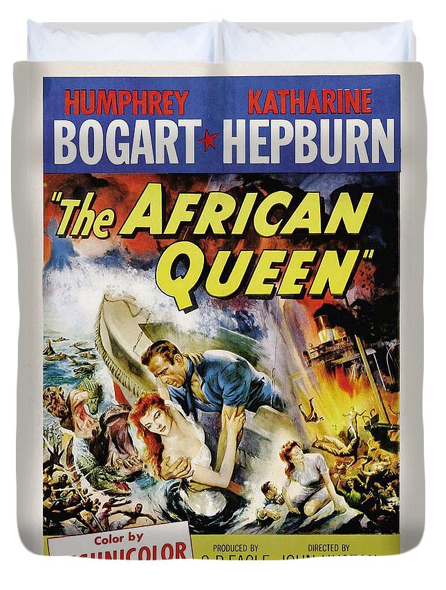 African Queen Duvet Cover featuring the photograph The African Queen by Movie Poster Prints