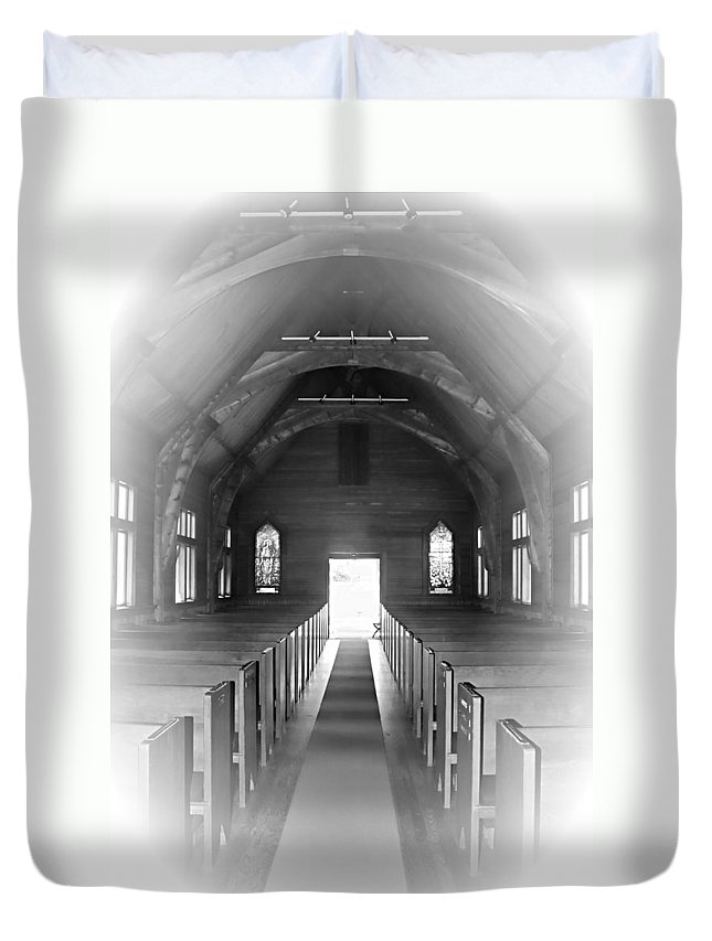 Church Duvet Cover featuring the photograph The Aisle by Jes Fritze