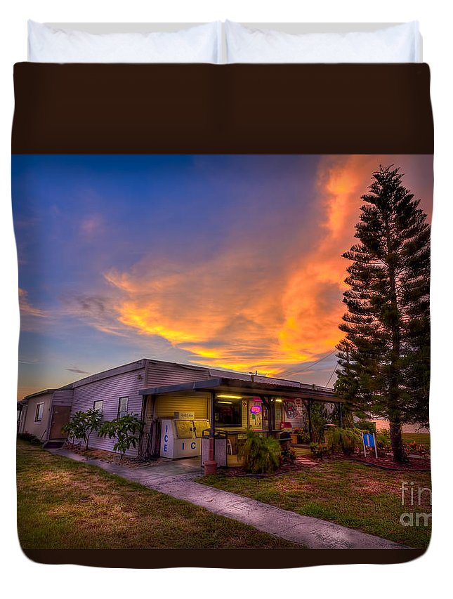 War Vets Duvet Cover featuring the photograph The American Legion by Marvin Spates