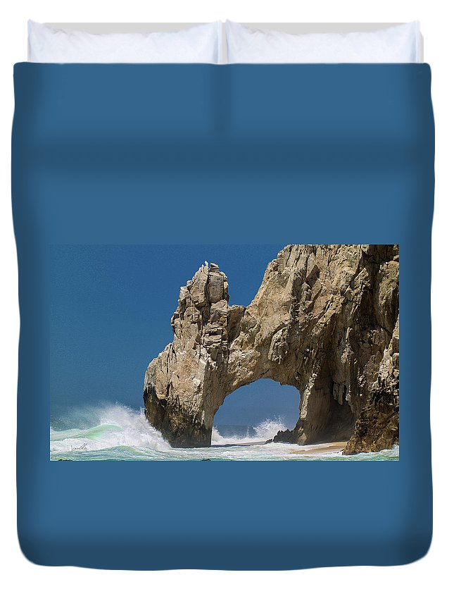 Scenics Duvet Cover featuring the photograph The Arch Of Los Cabos San Lucas by Marc Javelly