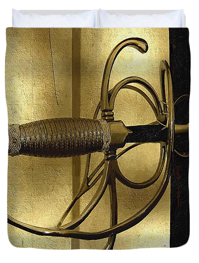 Sword Duvet Cover featuring the painting The Art Of The Sword by RC DeWinter