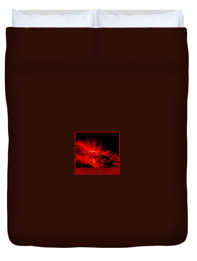 Outer Space Three Zero Six Duvet Cover featuring the digital art The Art Of The Universe 307 by The Hubble Telescope