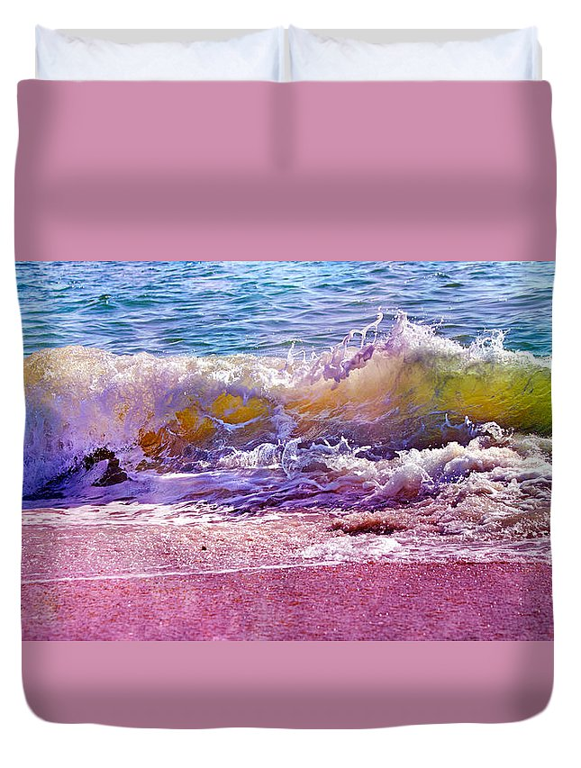 Ocean Duvet Cover featuring the photograph The Art Of Waving by Betsy Knapp