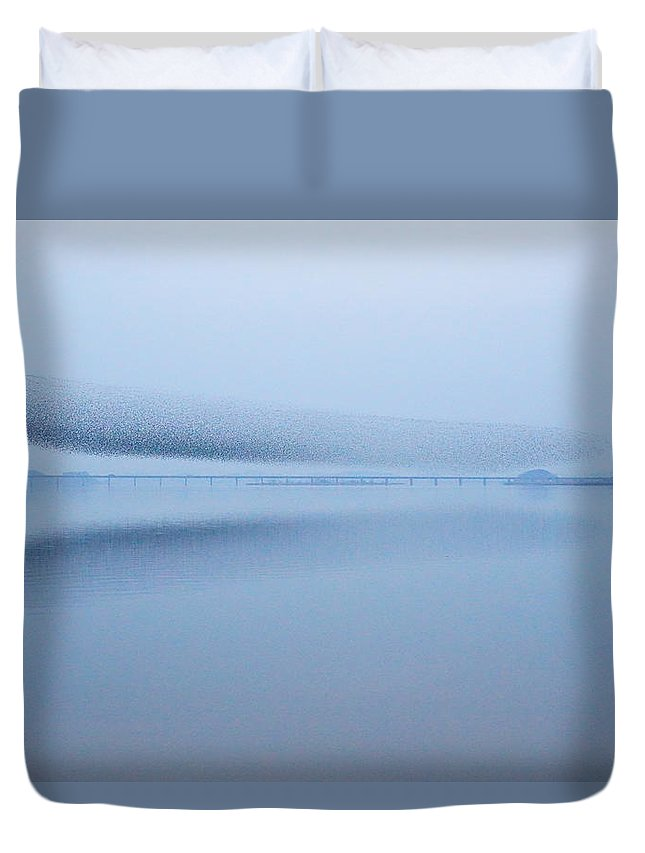 Scenics Duvet Cover featuring the photograph The Baikal Teals 2 by Penboy