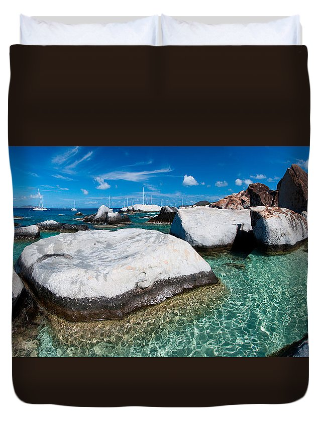 3scape Duvet Cover featuring the photograph The Baths by Adam Romanowicz