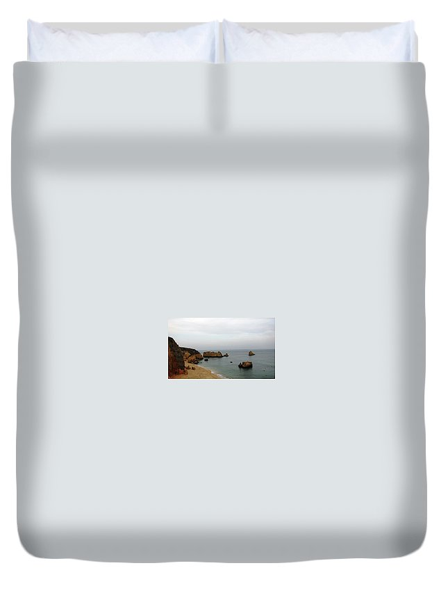 Portugal Duvet Cover featuring the photograph The Beautiful Algarve 4 by Teresa Ruiz