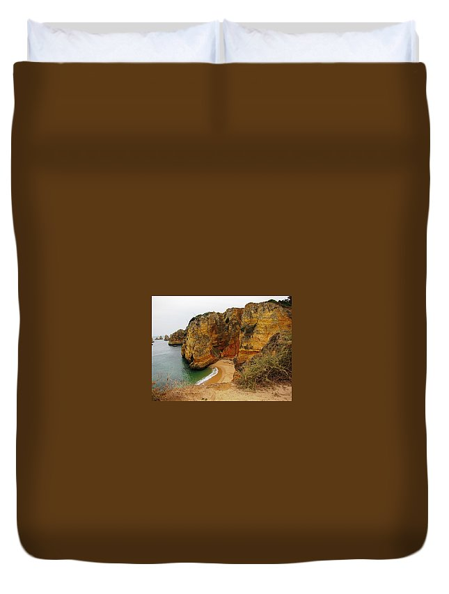 Portugal Duvet Cover featuring the photograph The Beautiful Algarve 5 by Teresa Ruiz