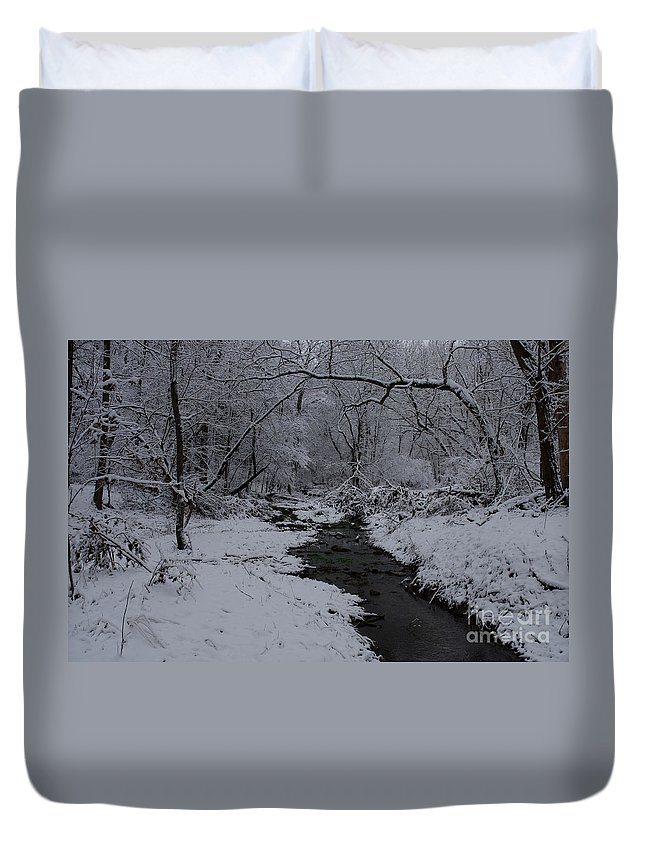 Snow Covered Landscape Duvet Cover featuring the photograph The Beauty Of Winter by Kitrina Arbuckle