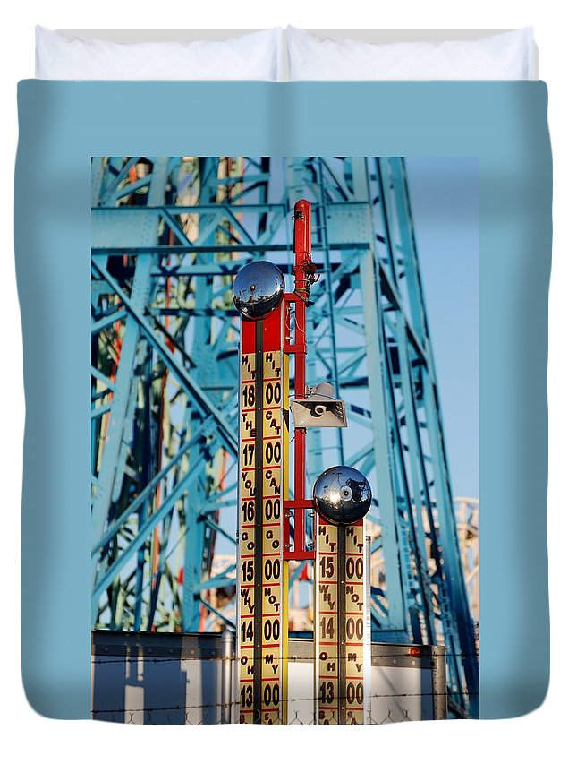 Brooklyn Duvet Cover featuring the photograph The Bells Of Coney Island by Rob Hans