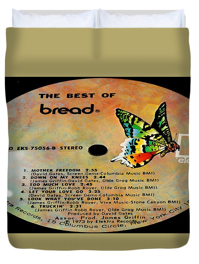 Records Duvet Cover featuring the photograph The Best Of Bread Side 2 by Marcello Cicchini