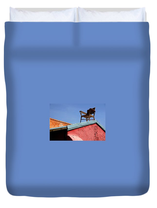Chair Duvet Cover featuring the photograph The Best Seat In The House by Joe Kozlowski