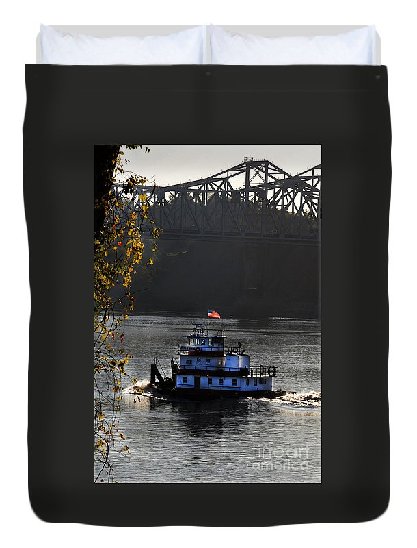 Tugboat Duvet Cover featuring the photograph the BettyeJenkins by Leon Hollins III