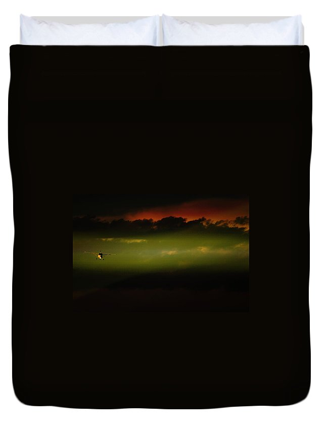 Jabiru Duvet Cover featuring the photograph The Big Picture by Paul Job