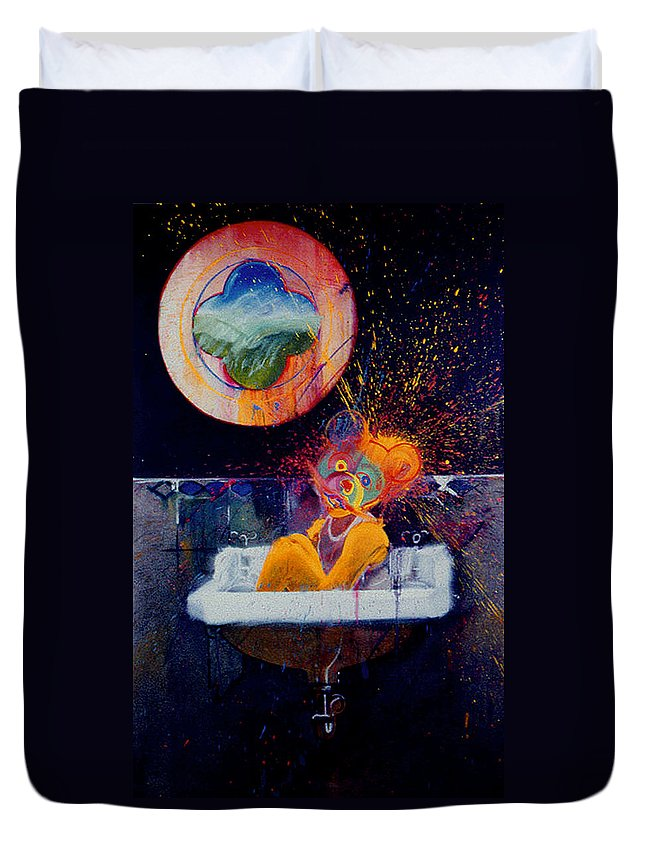 Bear Duvet Cover featuring the painting The Big Wash by Charles Stuart