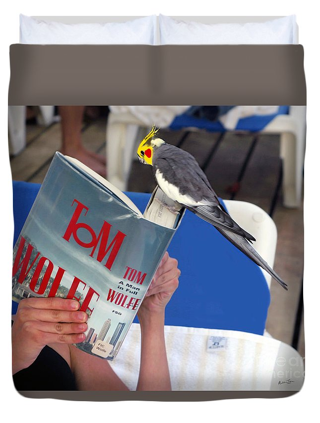 Bird Duvet Cover featuring the photograph The Bird Brain by Madeline Ellis