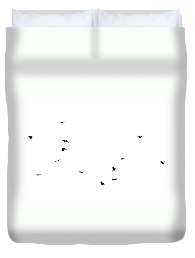 Birds Duvet Cover featuring the photograph The Birds by Jessica Brown