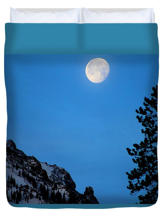 Full Moon Duvet Cover featuring the photograph The Bird's Nest by Fiona Kennard