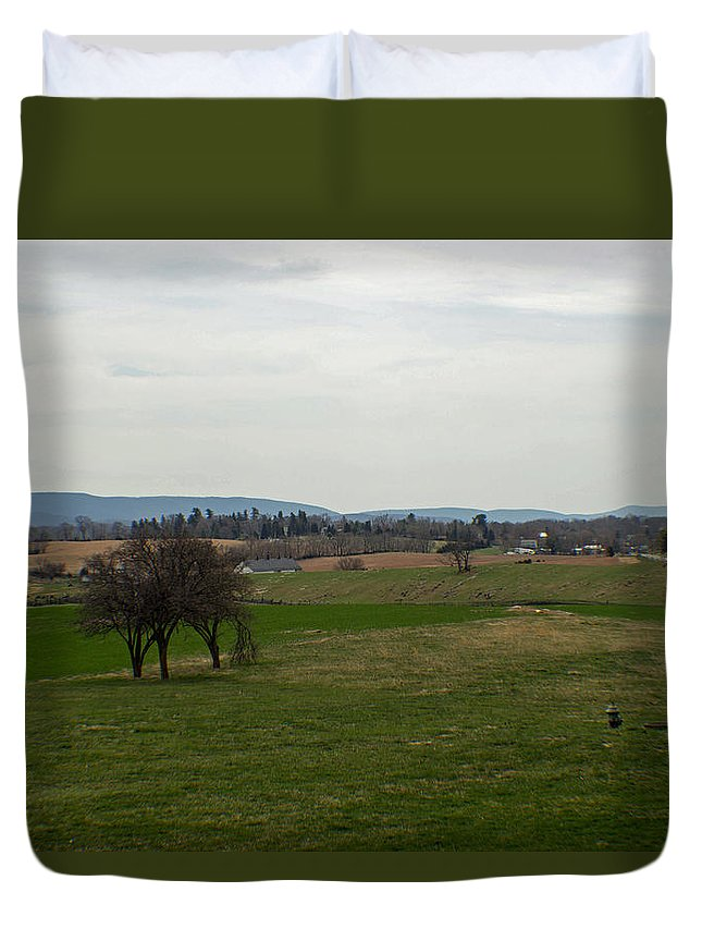 Civil War Duvet Cover featuring the photograph The Bloody Fields Of Antietam 2 by Howard Tenke