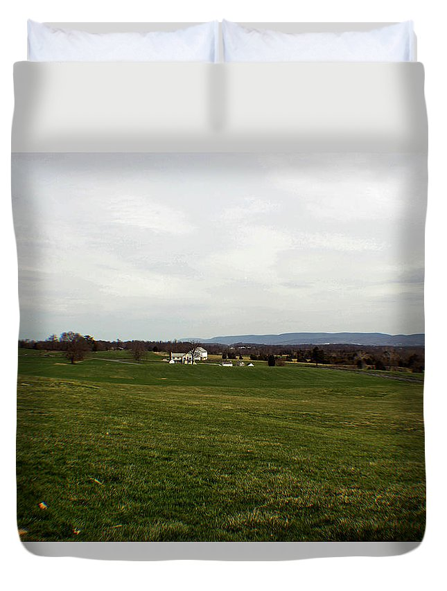 Civil War Duvet Cover featuring the photograph The Bloody Fields Of Antietam 3 by Howard Tenke