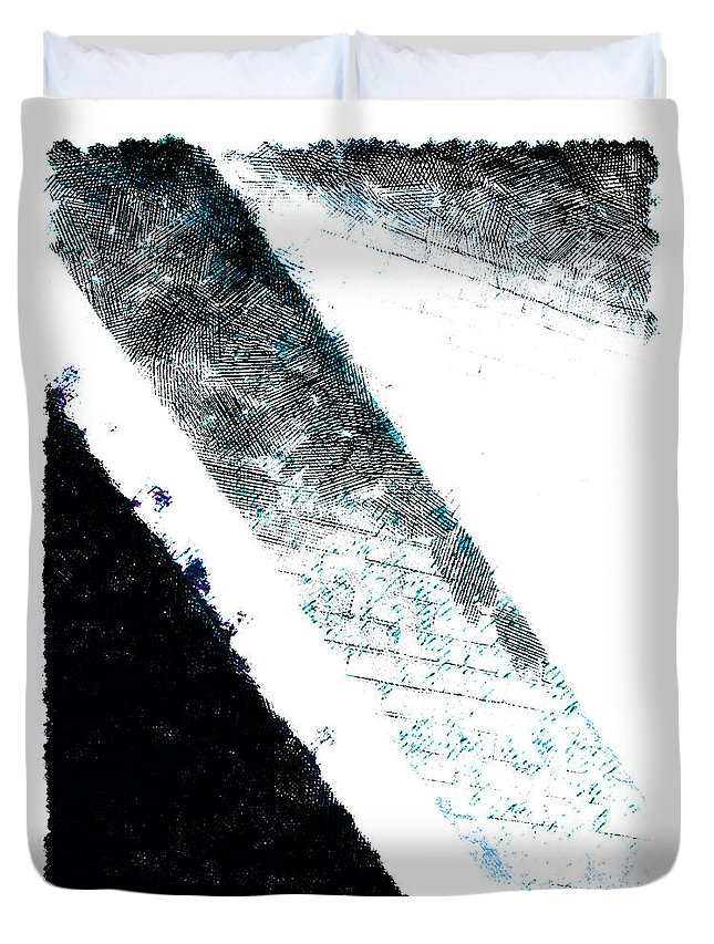 Wall Duvet Cover featuring the digital art The Blue Streak by Steve Taylor