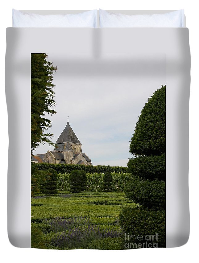 Boxwood Duvet Cover featuring the photograph The Boxwood Garden - Villandry by Christiane Schulze Art And Photography
