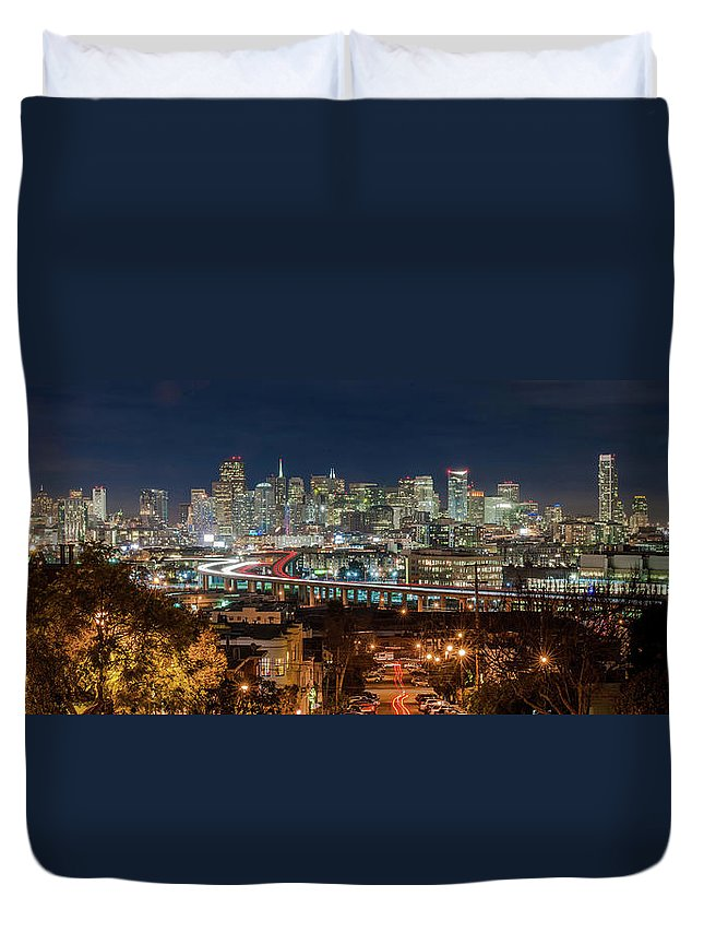 Tranquility Duvet Cover featuring the photograph The Breath Taking View Of San Francisco by Www.35mmnegative.com