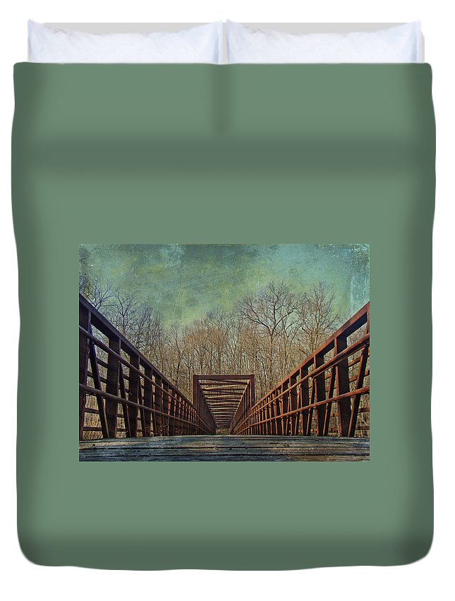 Bridge Duvet Cover featuring the photograph The Bridge To The Other Side Of Where? by Mother Nature