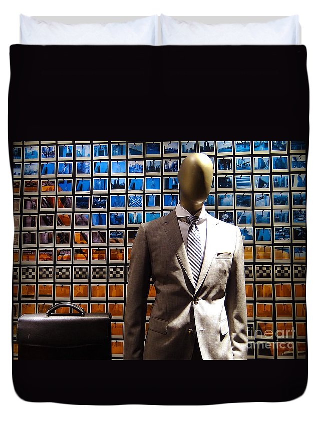 Mannequin Duvet Cover featuring the photograph The Businessman by Ed Weidman