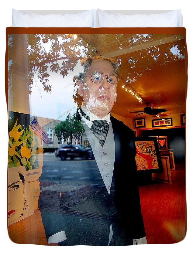 Mannequin Duvet Cover featuring the photograph The Butler by Ed Weidman