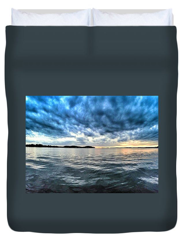 Lake Ontario Duvet Cover featuring the photograph The Calm After The Storm by Erik Kaplan