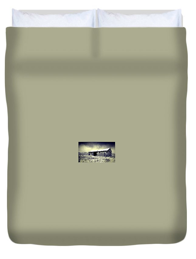 Stable Duvet Cover featuring the photograph The Calm Before The Storm by Alma Reyes