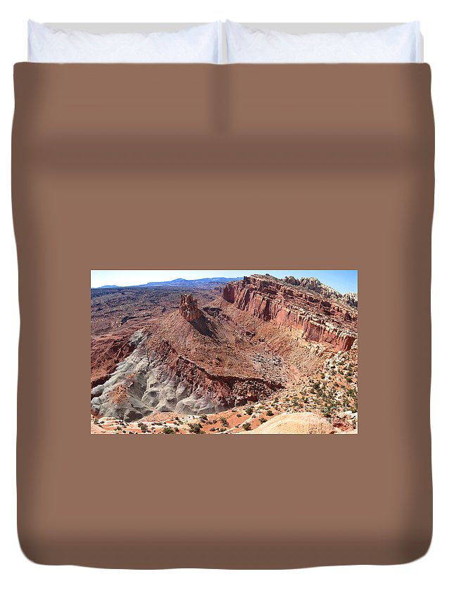 America Duvet Cover featuring the photograph The Castle In Capitol Reef Np by Stephan Pietzko