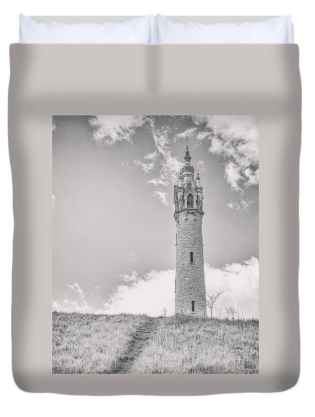 Castle Duvet Cover featuring the photograph The Castle Tower by Scott Norris