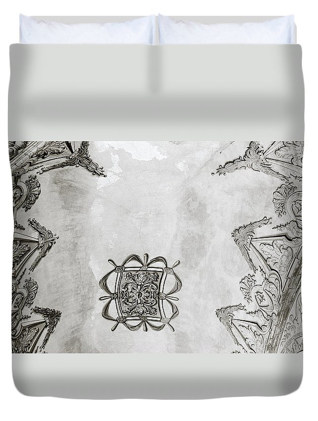 Art Duvet Cover featuring the photograph The Ceiling Design by Shaun Higson