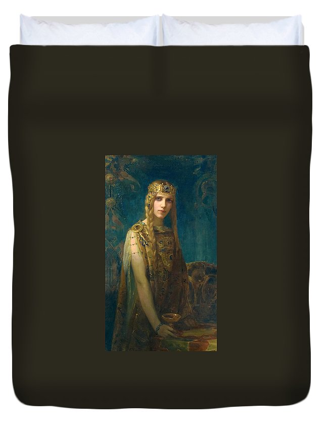 Gaston Bussiere Duvet Cover featuring the painting The Celtic Princess by Gaston Bussiere